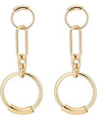 Chloé - Interlocking Hoop Earrings - Lyst