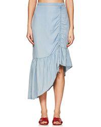 Suboo - Stand Still Chambray Asymmetric Skirt - Lyst