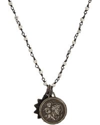 Miracle Icons | Spiritual Icon Charms On Beaded Chain Necklace | Lyst