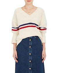 Tomorrowland - Striped Wool Varsity Jumper - Lyst