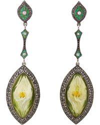 Sevan Biçakci - Tulip Intaglio Drop Earrings - Lyst
