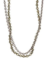 M. Cohen - Beaded Double-strand Necklace - Lyst