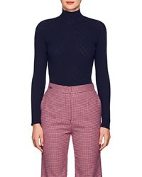 Cedric Charlier - Diamond-pattern Rib-knit Sweater - Lyst