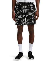 Neil Barrett - Camouflage Cotton Terry Shorts - Lyst
