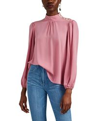 Robert Rodriguez - Women's Claire Silk Blouse - Rose - Size Large - Lyst