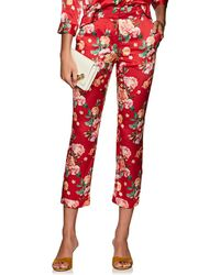 Barneys New York - Floral Silk Pyjama Trousers - Lyst