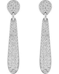 Linda Lee Johnson - White Diamond Honeycomb Earrings - Lyst