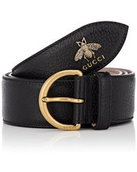 Gucci - Bee Leather Belt - Lyst