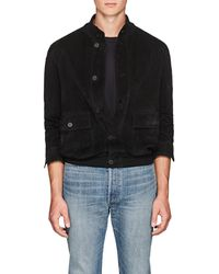 The Row - James Suede Blouson - Lyst