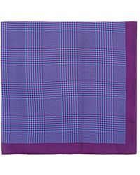 Barneys New York - Prince Of Wales Checked Silk Pocket Square - Lyst
