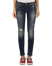 R13 - Kate Skinny Distressed Jeans - Lyst