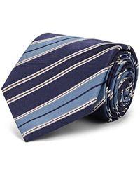 Brioni - Multi-striped Silk Twill Necktie - Lyst