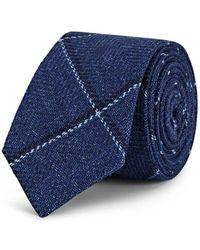 Alexander Olch - Diagonal-windowpane Wool-cotton Necktie - Lyst