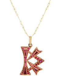 Judy Geib - k Pendant Necklace - Lyst