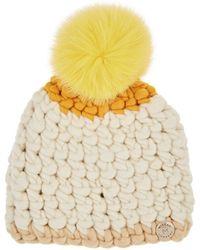 Mischa Lampert - Deep Colorblocked Merino Wool Beanie - Lyst