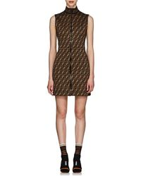 9dbee7c30900 Fendi - Logo Printed Jersey Dress - Lyst