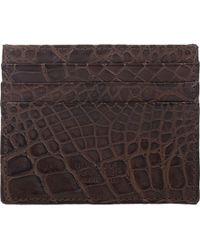 Barneys New York - Alligator Flat Card Case - Lyst