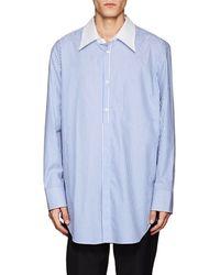 Maison Margiela - Striped Cotton Poplin Shirt - Lyst