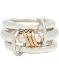 Spinelli Kilcollin - Sterling Silver & Rose lynx Ring - Lyst