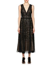 J. Mendel - Embellished Silk Cocktail Gown - Lyst