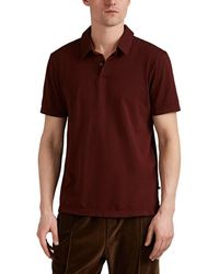 James Perse - Sueded Cotton Jersey Short-sleeve Polo Shirt - Lyst