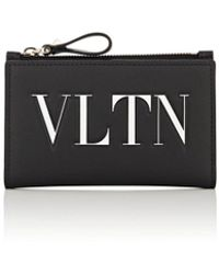 Valentino - vltn Leather Folding Card Case - Lyst