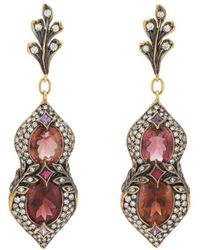 Cathy Waterman - Mixed-gemstone Drop Earrings - Lyst