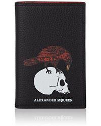 Alexander McQueen - Leather Folding Card Case - Lyst