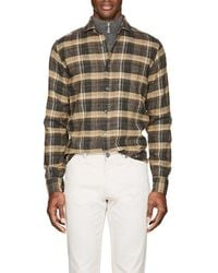 Inis Meáin   Plaid Washed Silk   Lyst
