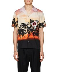Valentino - Embellished Cotton Camp-collar Shirt - Lyst