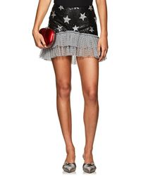 Kalmanovich - Sequined Star-motif Miniskirt - Lyst