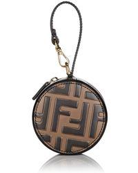 1cf93bcd39e7 Lyst - Fendi Women s Leather Handbag Shopping Bag Purse New Dot Com ...