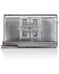 Givenchy - Emblem Metallic Leather Chain Wallet - Lyst