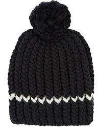 Wommelsdorff - Milou Striped Chunky Wool Beanie - Lyst
