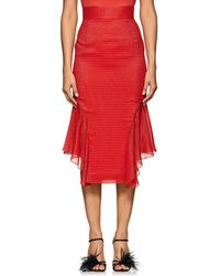 J. Mendel - Metallic-striped Silk-blend Handkerchief Skirt - Lyst