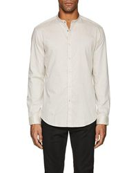 John Varvatos | Striped Cotton Tunic Shirt | Lyst