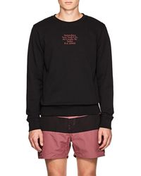 Saturdays NYC - Gotham Cotton Terry Sweatshirt - Lyst