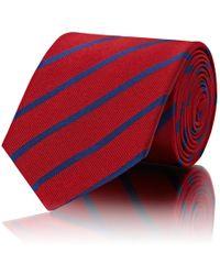 Mens Striped Silk Twill Necktie Barneys New York vsBZEk691T