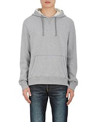 Valentino - Studded Cotton-blend Terry Hoodie - Lyst