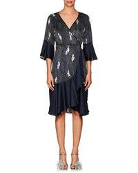 byTiMo - Dot-&-floral Crepe Wrap Dress - Lyst
