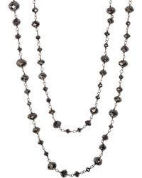 Sidney Garber - Diamond Beaded Necklace - Lyst