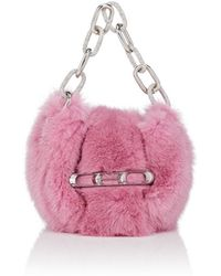 Alexander Wang - Micro Mini Mink Fur Clutch - Lyst