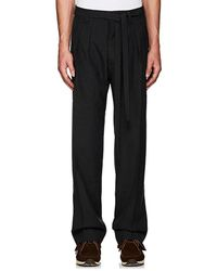 Visvim - Striped Wool-mohair Pleated-front Trousers - Lyst