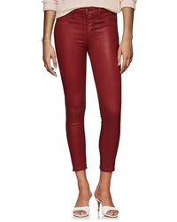 L'Agence - Margot Coated High-rise Skinny Jeans - Lyst