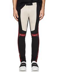Givenchy - Cotton Slim Biker Trousers - Lyst