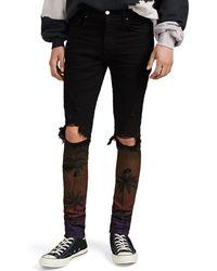 Amiri - Thrasher Sunset-print Skinny Jeans - Lyst
