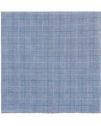 Simonnot Godard - Checked Cotton Pocket Square - Lyst