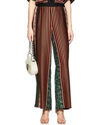 Warm - Striped Silk Wide - Lyst