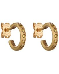 Malcolm Betts - Yellow Diamond Huggie Hoops - Lyst