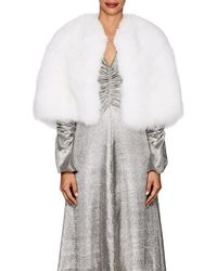 Lilly E Violetta - Michaela Fox Fur Cape - Lyst